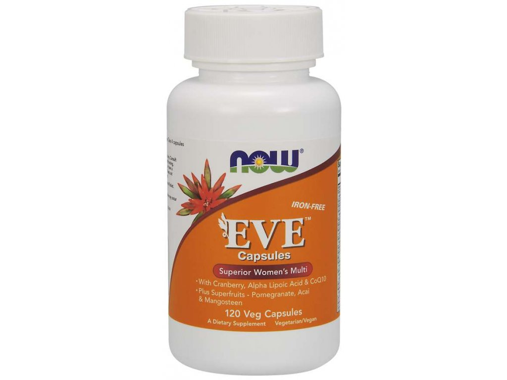 NOW Multi Vitamins Eve, Women's Superior, 120 rostlinných kapslí