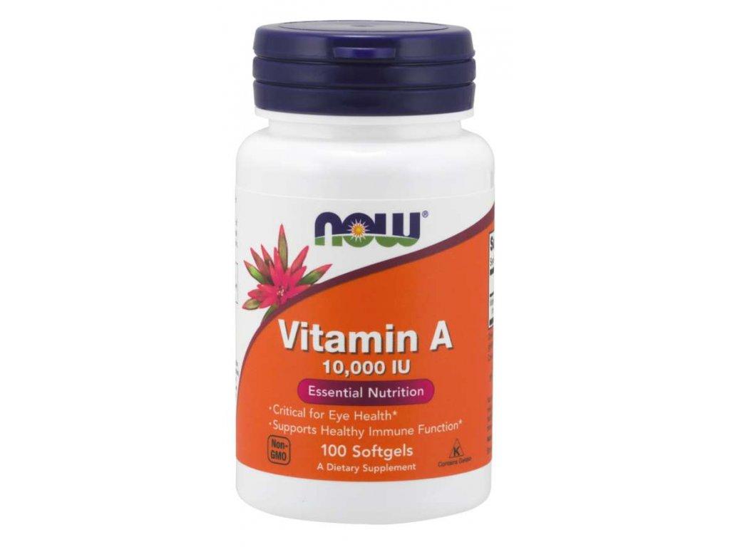 NOW Vitamin A, 10000 IU, 100 softgelových kapslí