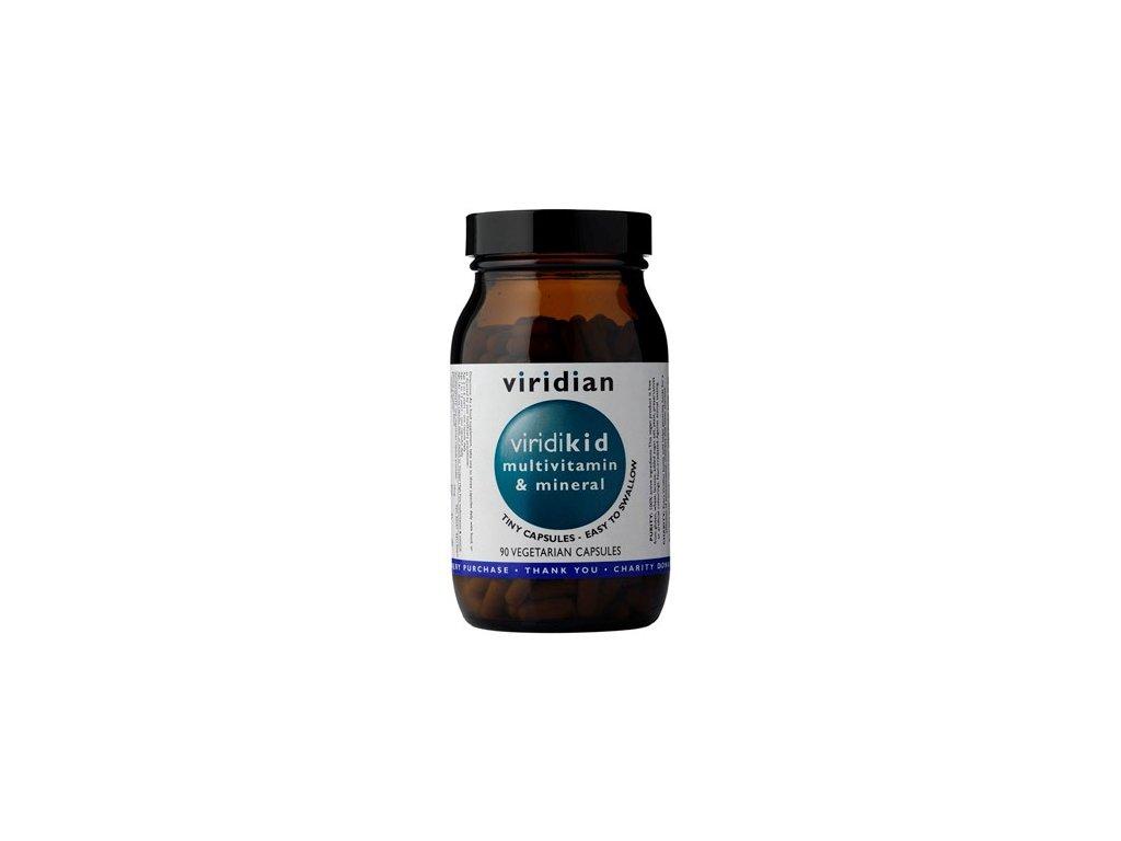 Viridian Viridikid Multivitamin 90 kapslí (pro děti)