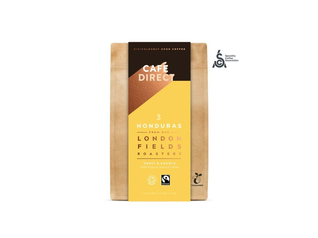 Cafédirect - BIO mletá káva Honduras SCA 83 s tóny karamelu a oříšků 200g