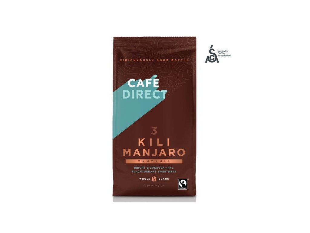 Cafédirect - Kilimanjaro SCA 82 zrnková káva 227g