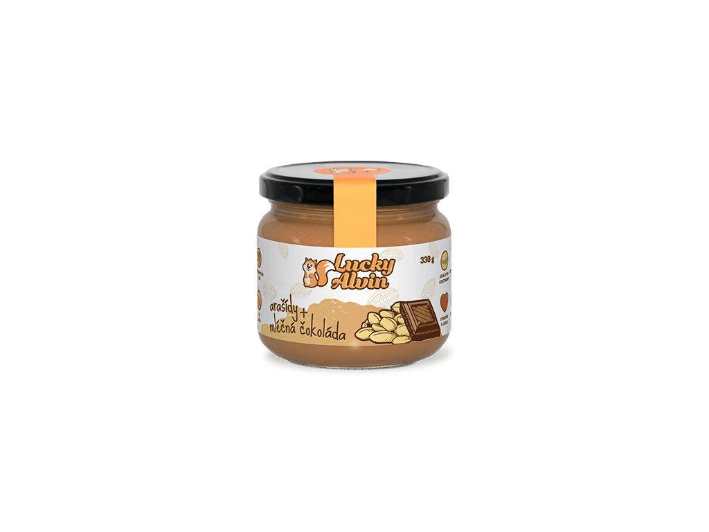 LuckyAlvin - Arašídy + Mléčná čokoláda 330g