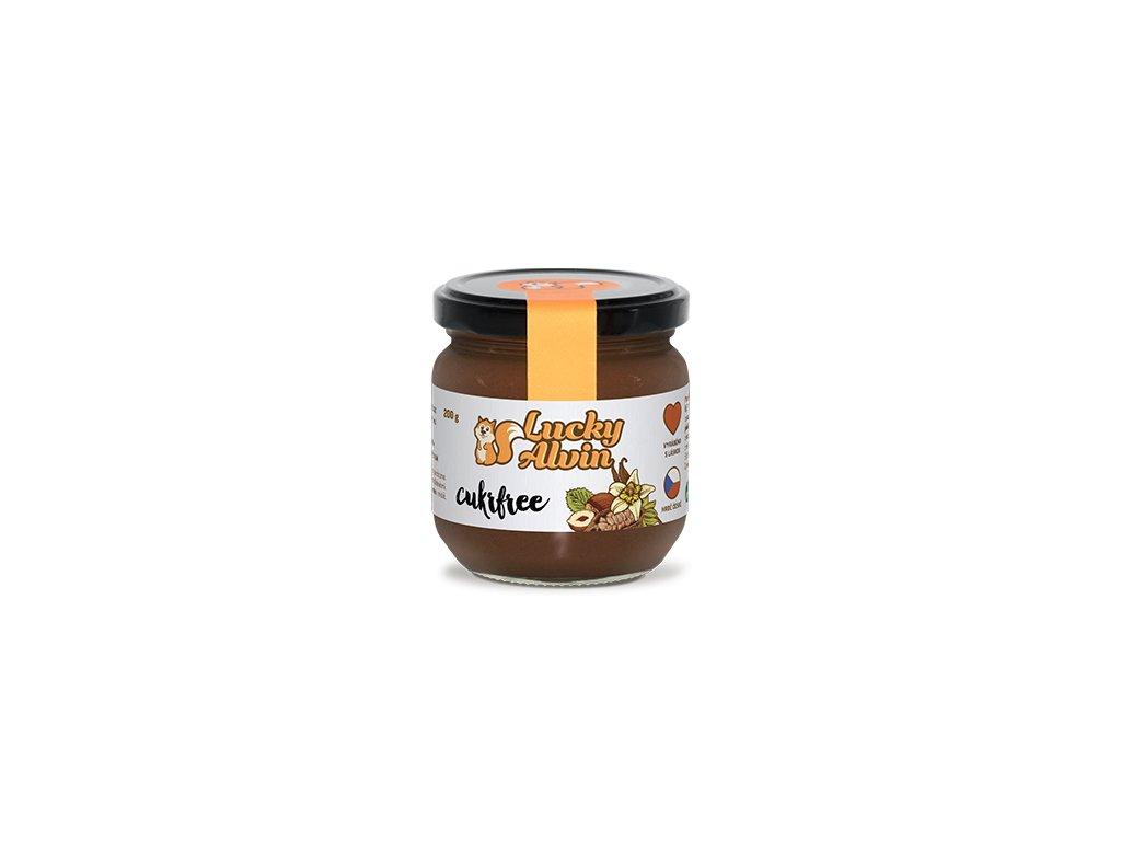 LuckyAlvin CUKRFREE - lískooříškové máslo 200g