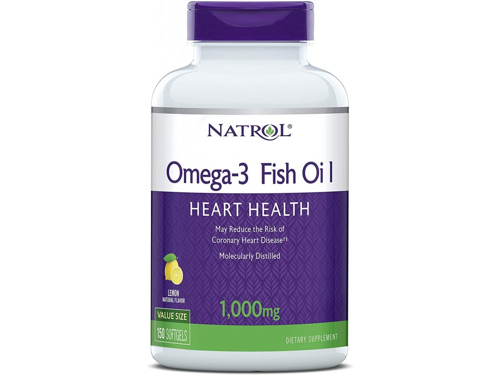 Natrol Omega-3 (molekulárně destilované) 1000mg, 150 Softgel