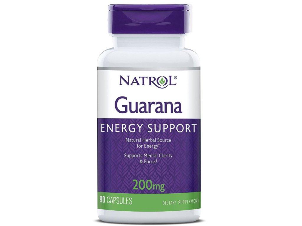 Natrol Guarana 200 mg, 90 kapslí