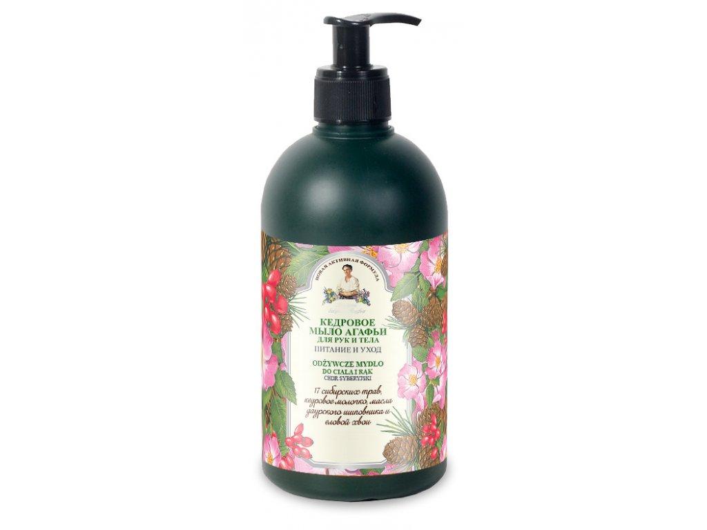 Agafja borovicové mýdlo na tělo a ruce 500 ml