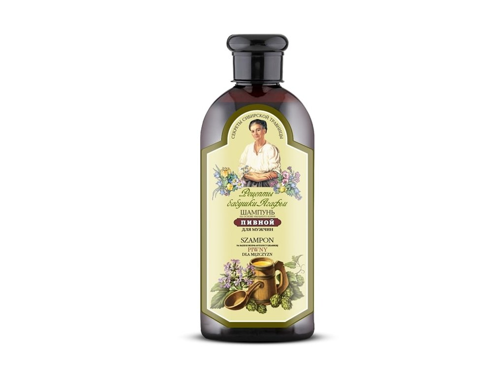 Agafja pivový šampon pro muže, 350ml