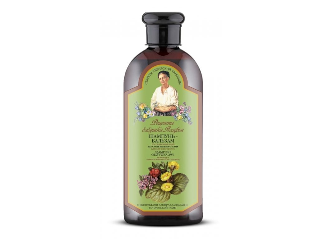 Agafja 2v1 regenerační šampón a kondicionér na všechny typy vlasů, 350ml