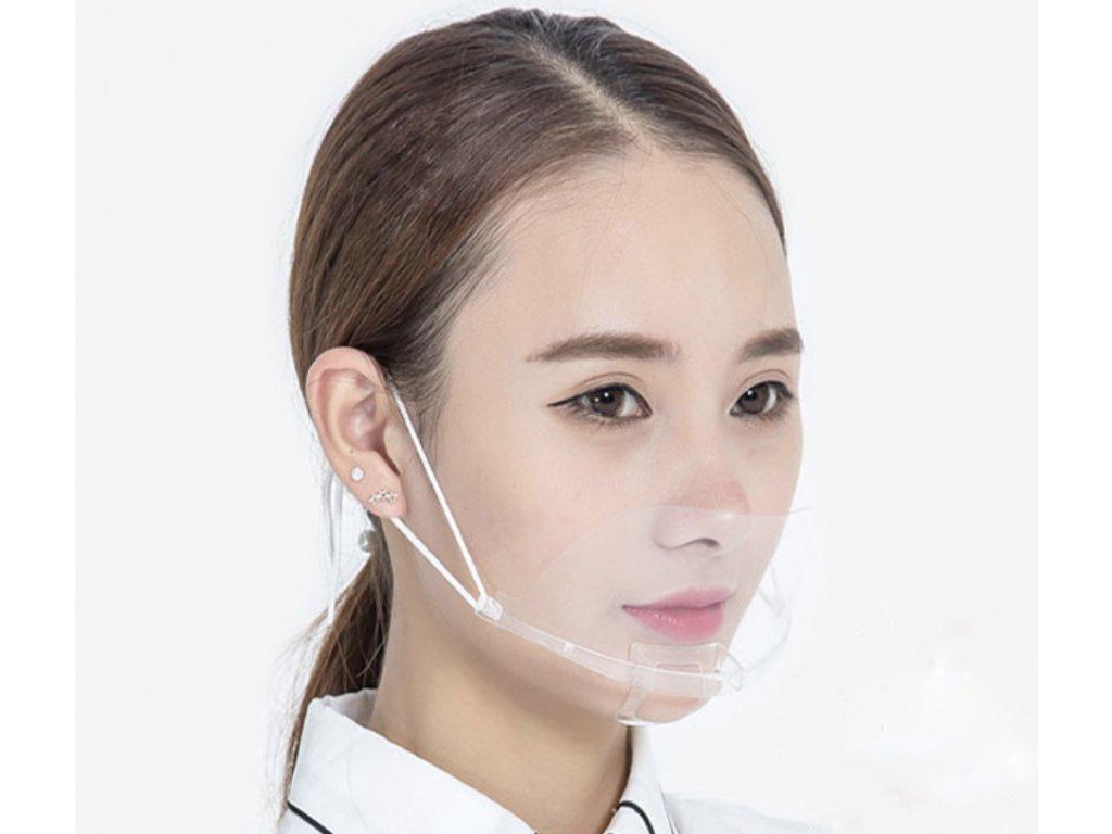 štít pro zakrytí pusy a nosu