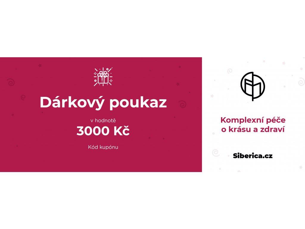 darkový poukaz Siberica 3000