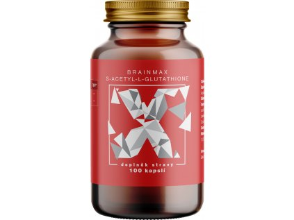 BrainMax S-Acetyl-L-Glutathione, SAG, 100 mg, 100 rostlinných kapslí