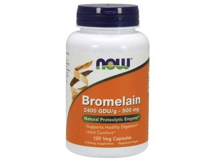 NOW Bromelain, 500 mg, 120 rostlinných kapslí