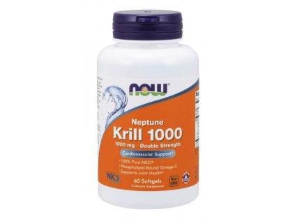 NOW Krill Oil Neptune (olej z krilu), 1000 mg, 60 softgel kapslí