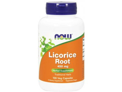 NOW Licorice Root (lékořice) 450mg 100 kapslí