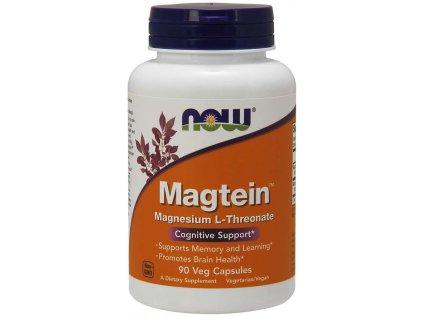 NOW Magtein Magnesium (hořčík L-treonát), 90 rostlinných kapslí