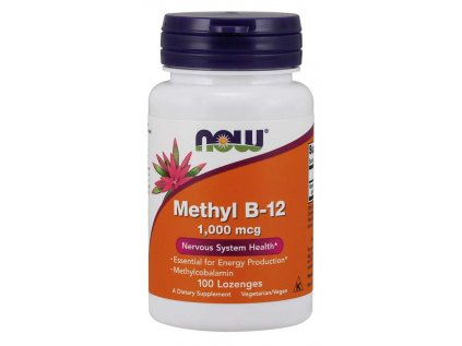 NOW Methyl B12, 1000 ug, 100 pastilek