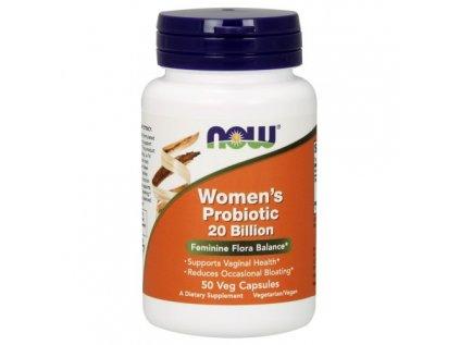 NOW Women's probiotic (probiotika pro ženy), 20 miliard, 50 rostlinných kapslí