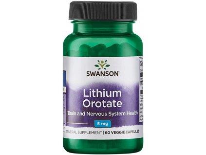 Swanson Lithium Orotate, 5 mg, 60 kapslí