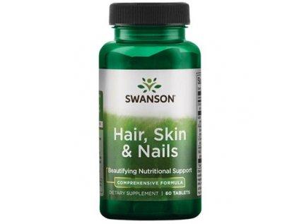 Swanson Hair, Nails & Skin (Vlasy, nehty & kůže) - 60 tablet