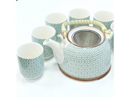 Keramická čajová souprava - Mozaika