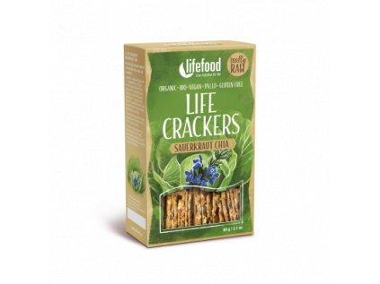 Life Crackers SAUERKRAUT CHIA zelanky placky se zelim bio raw lifefood 400 400