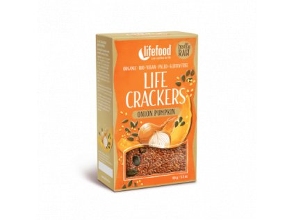 Life Crackers ONION PUMPKIN cibulovo dynove placky krekry bio raw lifefood 400 400