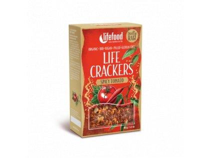 Life Crackers SPICY TOMATO lnene krekry mexicke ostre rajce bio raw lifefood01 400 400