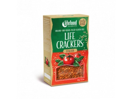 Life Crackers ITALIAN italske placky bio raw lifefood 400 400