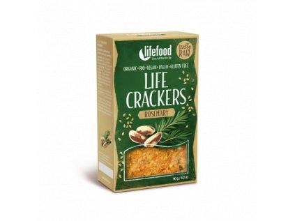 Life Crackers ROSEMARY rozmarynove placky krekry bio raw lifefood 400 400