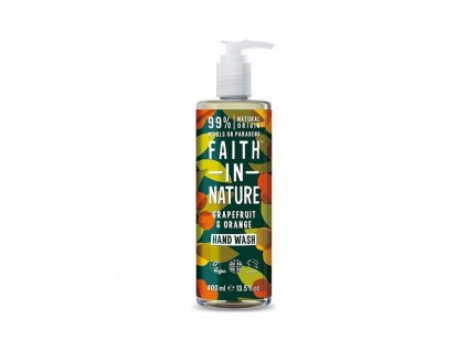 29862 faith in nature tekute mydlo na ruce grep pomeranc 400 ml