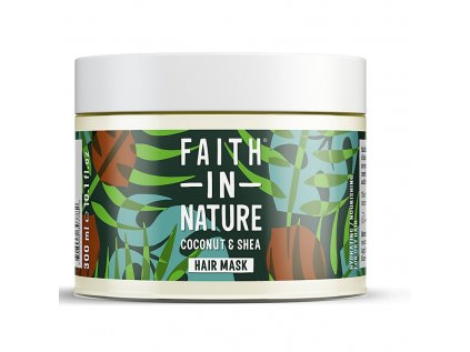 faith in nature vlasova maska kokos a bambucke maslo 300ml 1812