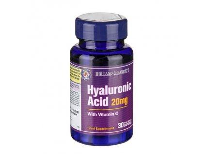 Holland & Barrett kyselina hyaluronová s vitamínem C, 30 kapslí 20 mg
