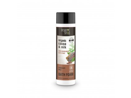 Organic shop Vyživující pěna do koupele Čokoládové mléko