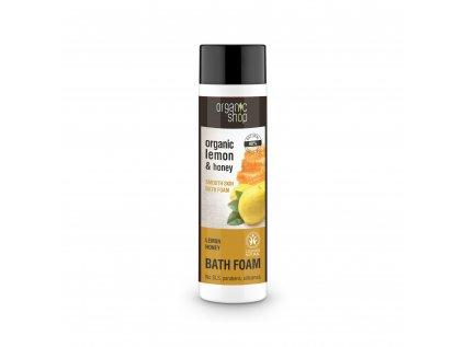 Organic shop Zvláčňující pěna do koupele Citron a med
