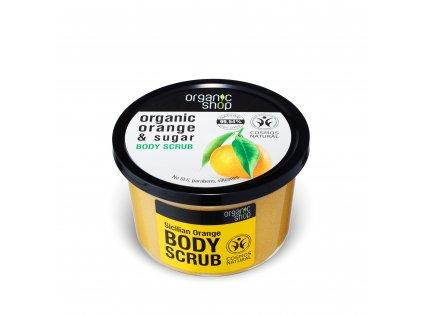 Organic shop Tělový peeling Sicilský pomeranč