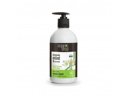 Organic shop Hydratační mýdlo na ruce Mátový jasmín