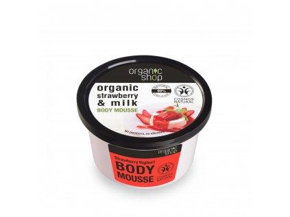 Organic shop Tělová pěna Jahody a jogurt