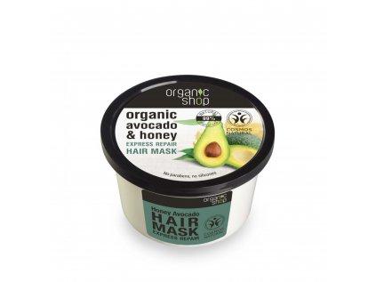 Organic shop Vlasová maska Med a avokádo