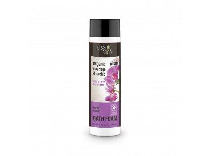 Organic shop Antistresová pěna do koupele Fialová orchidej