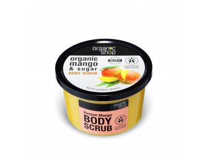 Organic shop Tělový peeling Mango z Keni