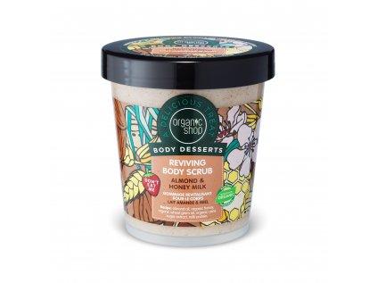 Organic shop Obnovující tělový krém Mandle a med, 450 ml