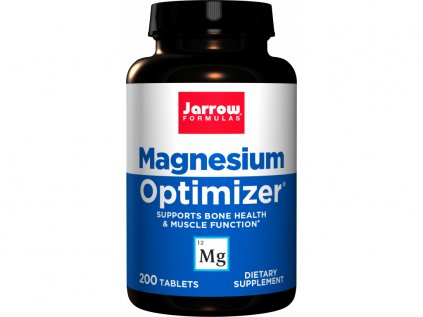 Jarrow Magnesium Optimizer, Hořčík, Draslík, Vitamin B6, Taurin, 200 tablet