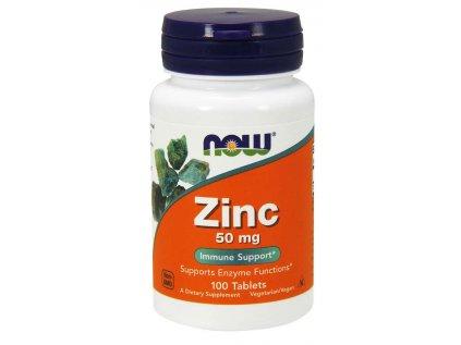 NOW, Zinek pro podporu imunity, 50 mg, 100 tablet