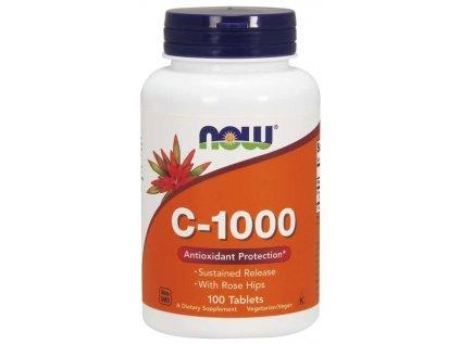 NOW Vitamin C-1000 s šípkem a postupným uvolňováním, 100 tablet