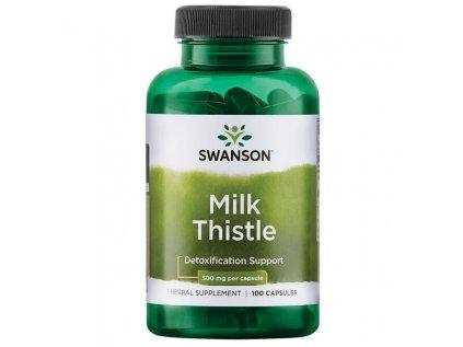 Swanson Milk Thistle (Ostropestřec), 500 mg, 100 kapslí