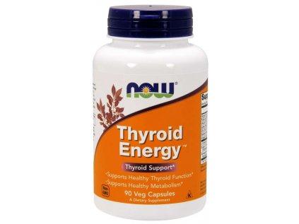 NOW Thyroid Energy (Štítná žláza), 90 rostlinných kapslí