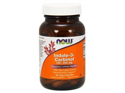 NOW I3C (Indol-3-karbinol) s extraktem lněných lignanů, 60 rostlinných kapslí