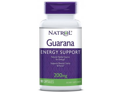Natrol Guarana 200 mg, 90 kapslí