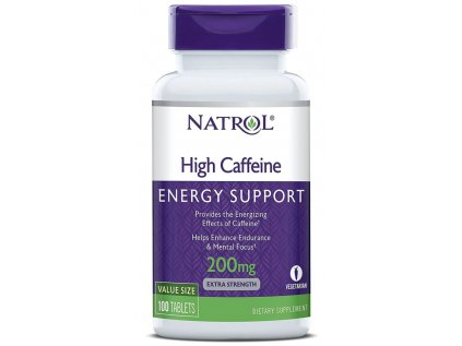Natrol High Caffeine 200 mg (kofein), 100 tablet