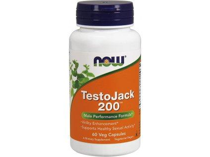 NOW TestoJack 200, 60 rostlinných kapslí